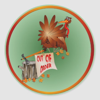 Out Of Order Thanksgiving Sticker