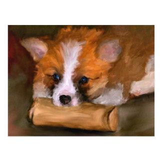 Out of Paper Corgi Dog Postcard