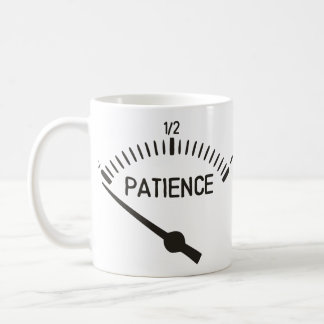 Out of Patience Gas Gauge Coffee Mug