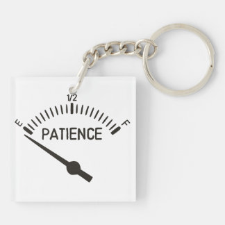 Out of Patience Gas Gauge Keychain