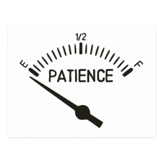 Out of Patience Gas Gauge Postcard