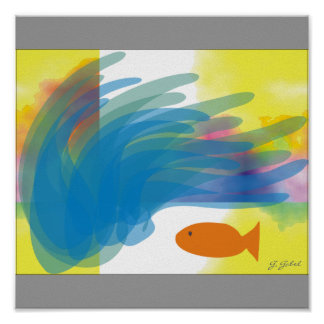 Out of School Fish POSTER