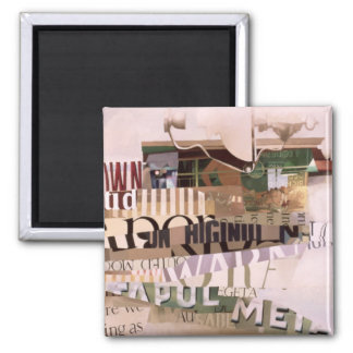Out of Season 2 Inch Square Magnet