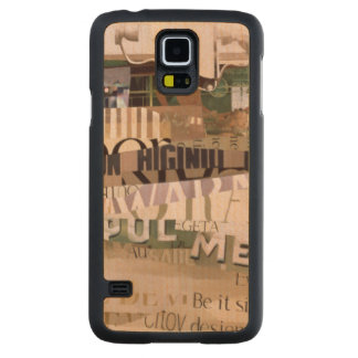 Out of Season Carved® Maple Galaxy S5 Slim Case