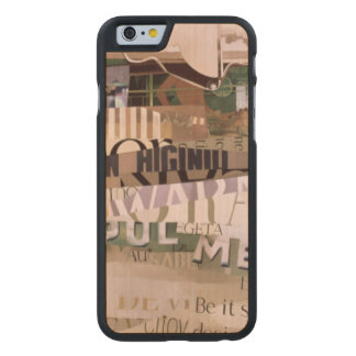Out of Season Carved® Maple iPhone 6 Slim Case