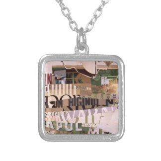 Out of Season Square Pendant Necklace