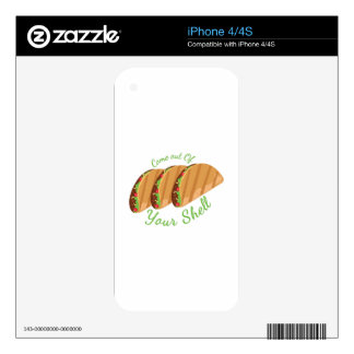 Out Of Shell Decal For iPhone 4