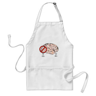 Out of Sight, Out of Mind Adult Apron