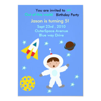 Out of Space Birthday Party invite        ...
