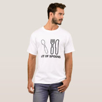 Out of Spoons T-Shirt | Spoon Theory Tee