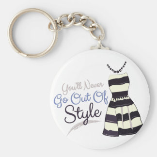 Out Of Style Basic Round Button Keychain