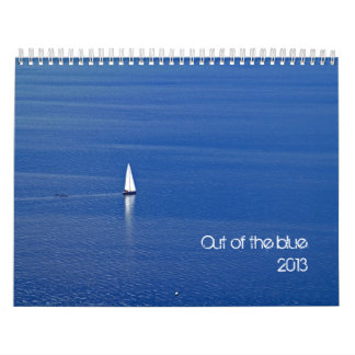 out of the blue - 2013 calendar