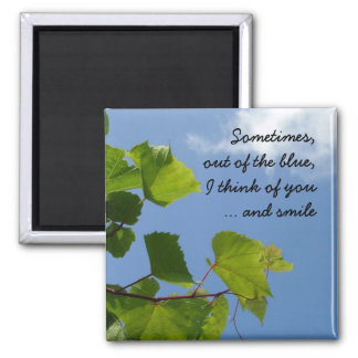 Out of the blue 2 inch square magnet