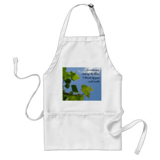 Out of the blue adult apron