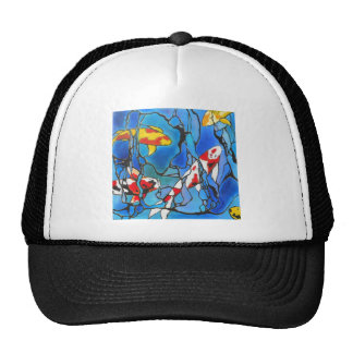 """Out Of The Blue"" Koi Fish Art Painting! Trucker Hat"