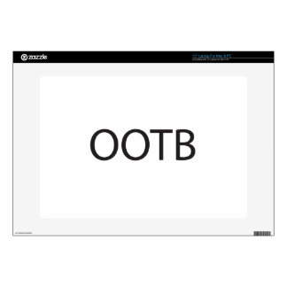 """Out Of The Box -or- Out Of The Blue.ai 15"""" Laptop Decal"""