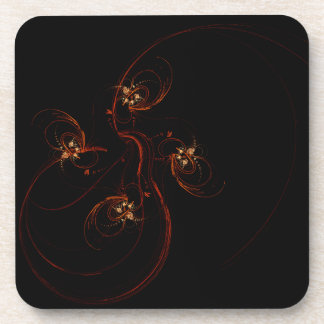 Out of the Dark Abstract Art Cork Coaster