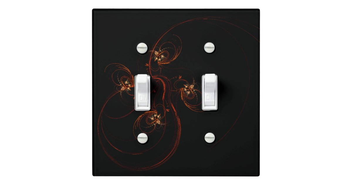 Out Of The Dark Abstract Art Double Toggle Light Switch Cover Zazzle Com