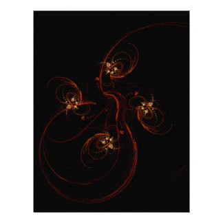 Out of the Dark Abstract Art Letterhead