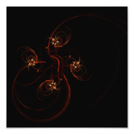 Out of the Dark Abstract Art Photo Print