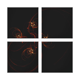 Out of the Dark Abstract Art Quad Canvas Print