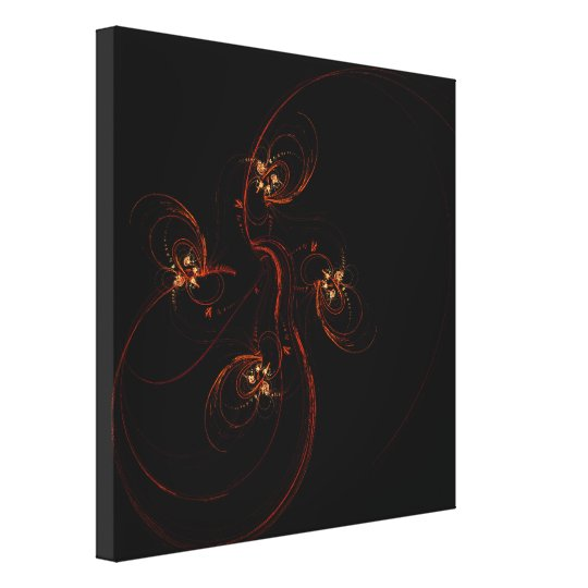 Out of the Dark Abstract Art Wrapped Canvas Print