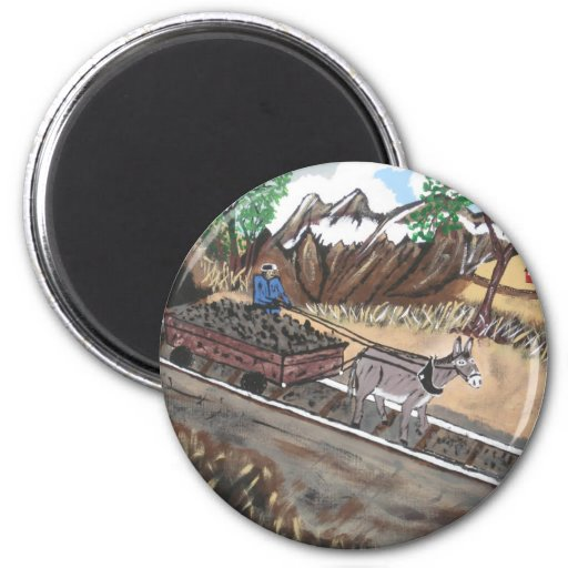 OUT Of The Dark And Into The Blue 2 Inch Round Magnet