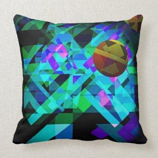 Out of the Ether Abstract Geometric Pillow