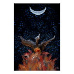 Out of the Flames: Phoenix Rising Print-Poster Poster