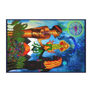 Out of the Garden into Quantum Consciousness Canvas Print