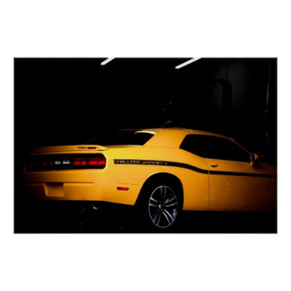 Out of the Hive - Dodge Challenger SRT8 Yellow Jac Poster