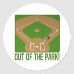 Out Of The Park Classic Round Sticker