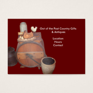 Out of the Past Country Gifts & Antiques Business Card