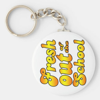 Out of the School Basic Round Button Keychain