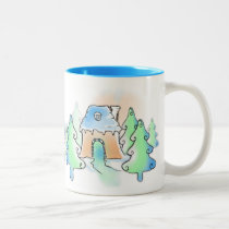 Out of the Woods, And Into The Gingerbread Two-Tone Coffee Mug