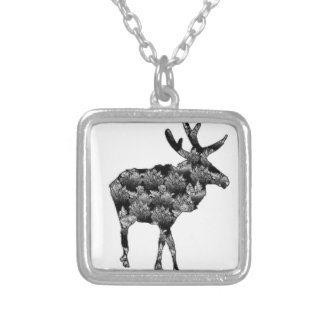 Out of the Woods Moose Silver Plated Necklace