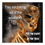 Out of the Woodwork Halloween Party Invitation