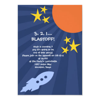"Out of this World Birthday Invitation 5"" X 7"" Invitation Card"