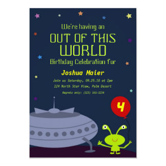 Out of This World, Birthday Invitations