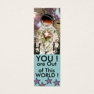 OUT OF THIS WORLD BOOK MARK - BOOKMARK MINI BUSINESS CARD