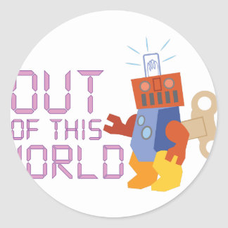 Out of This World Classic Round Sticker