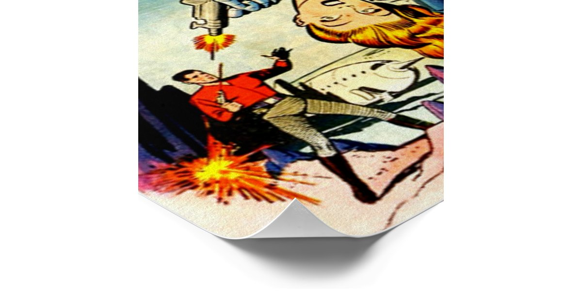 Cool Book Cover Posters : Out of this world cool vintage comic book cover poster