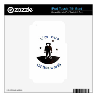 Out of this world decal for iPod touch 4G