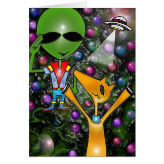 Out of this world greetings  by Gregory Gallo Card