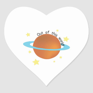 Out of this World Heart Sticker