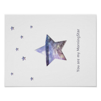 Out of this world Morning-star poster