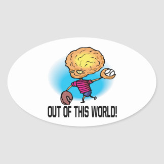 Out Of This World Oval Sticker