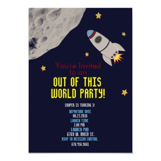 Out of This World Party Invitation