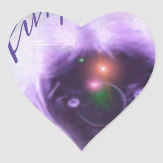 Out Of This World Purple Aura Heart Sticker