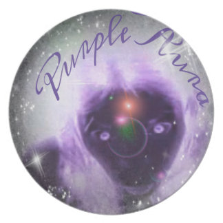 Out Of This World Purple Aura Melamine Plate
